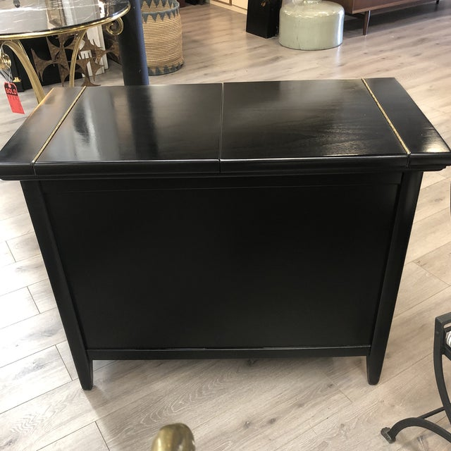 Wood Midcentury Lacquered Bar For Sale - Image 7 of 9