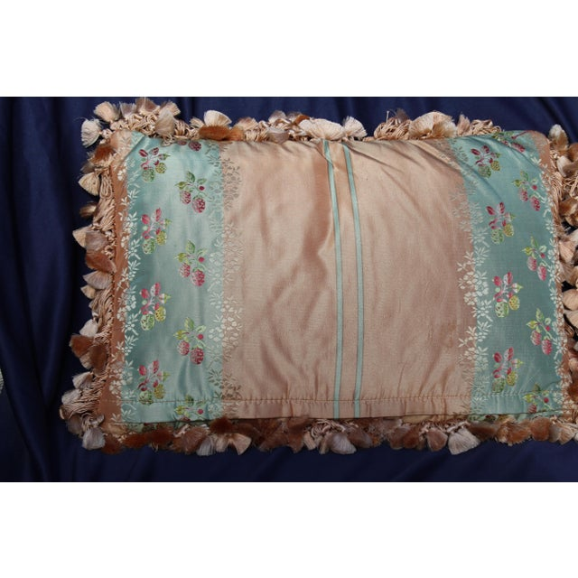 Mid 20th c. pr. of french silk chair pillows
