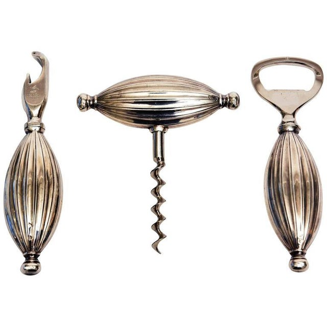 Mid-century Modern Sterling Silver Signed Sculptural Barware Set - Set of 3 For Sale - Image 10 of 10