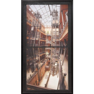 Large Framed Photograph of the Bradbury Building by Michael Rauner For Sale