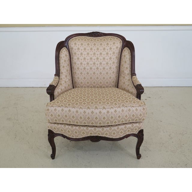 1990s Vintage Drexel Heritage French Louis XV Style Upholstered Chair For Sale - Image 11 of 11