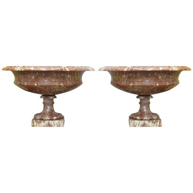 Marble 19th Century Turned Rossa Verona Marble Tazzas - A Pair For Sale - Image 7 of 7