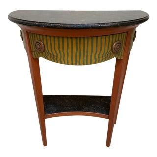 Vintage Trompe L'oeil Demilune Table For Sale
