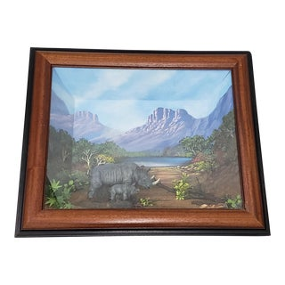 Alf Jones Natural History Diorama African Landscape With Rhinoceros For Sale