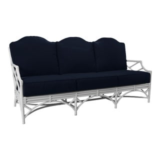 Chippendale Outdoor Sofa - White For Sale
