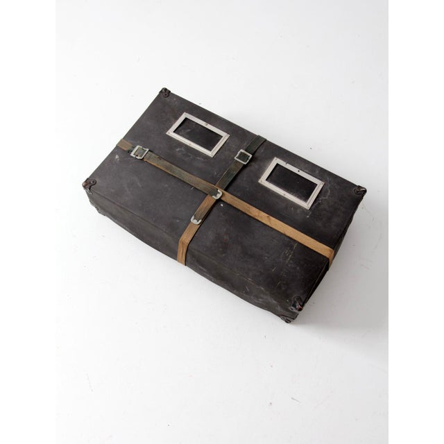 Canvas Vintage Laundry Mailing Box For Sale - Image 7 of 8