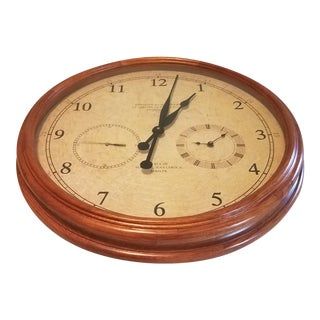 Vintage Exposition De l'Horlogerie Le Montre Et Regulater Fonde en 1802 Wall Clock, Paris France For Sale