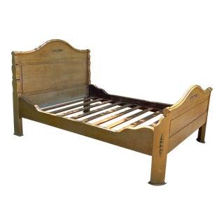 Vintage Birch Sleigh Custom Size Bedframe For Sale