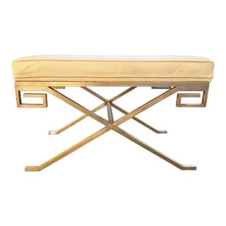 Nancy Corzine Marston Venetian Silver Finish Bench For Sale