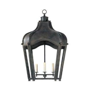 Dennis & Leen Iron and Glass Navarre Lantern Light Fixture For Sale