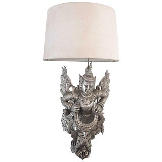 1950s Silver James Mont Wall Sconce with Shade For Sale