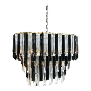 Mid-Century Modern Two Tone Lucite Chandelier For Sale
