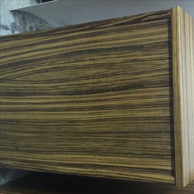Mid-Century Wood Filing Cabinet - Set of 3 - Image 5 of 8