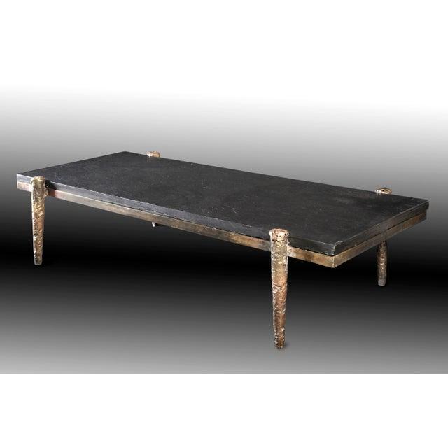 Bronze, top slate Ref: TBROM H. 35 x L. 60 x l. 160 cm