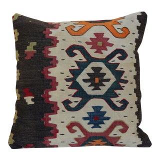 Antique Oriental Kilim Rug Pillow For Sale