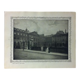"""1906 """"Guy's Hospital - South Wark"""" Famous View of London Print For Sale"""