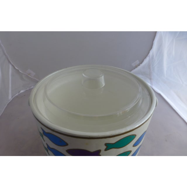 Mid-Century Ice Bucket With Colorful Fish - Image 5 of 8