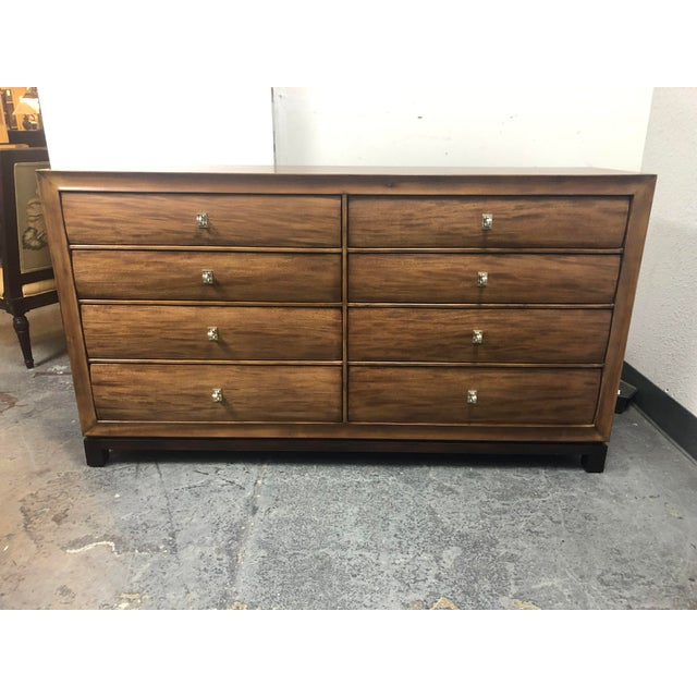 American Drew Eight Drawer Walnut Dresser For Sale - Image 11 of 11