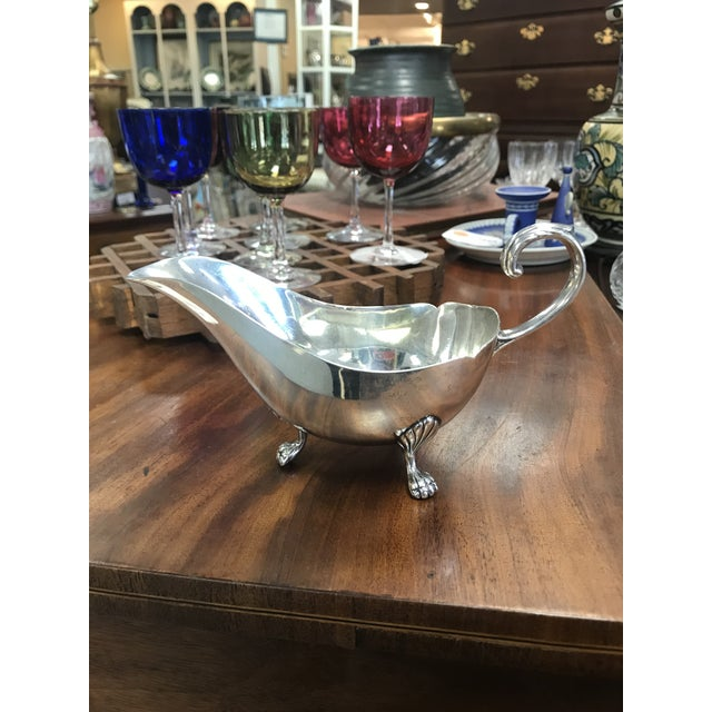 Georgian Style Sterling Silver Gravy Boat For Sale In New York - Image 6 of 6