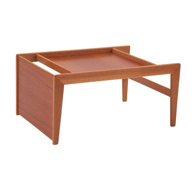 Sculptural Teak & Mahogany Serving Tray For Sale