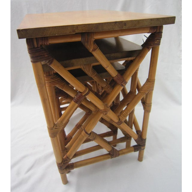 Fretwork Nesting Tables - S/3 - Image 4 of 6