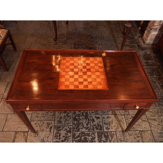 Empire Antique French Mahogany Games Table For Sale - Image 3 of 8