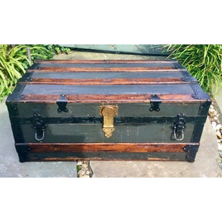 19th Century New Yorker Wood Steamer Trunk Preview