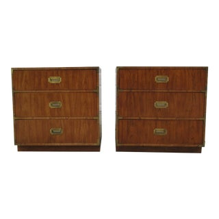 Vintage Dixie Campaign Style Bachelor Chests -A Pair For Sale