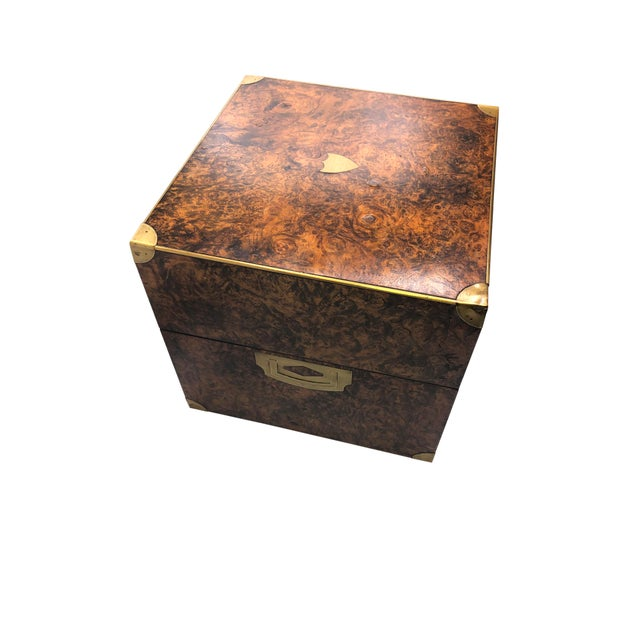 Campaign Antique English Campaign Style Box For Sale - Image 3 of 9