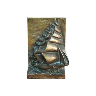 Vintage Sailboat Bookend For Sale