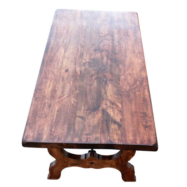 French Style Table & Rush Rattan Chairs | Chairish