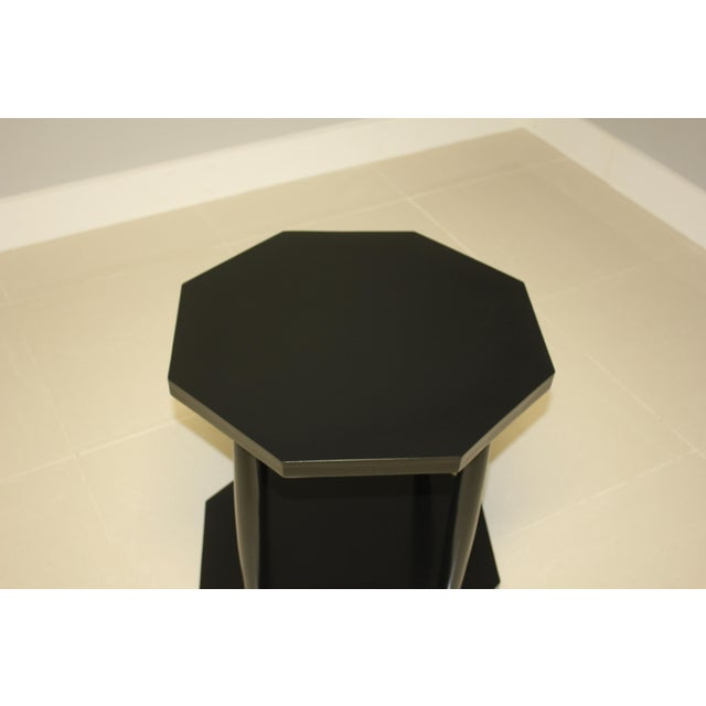 Art Deco 1940s French Art Deco Black Ebonized Coffee/Side Table For Sale - Image 3 of 13