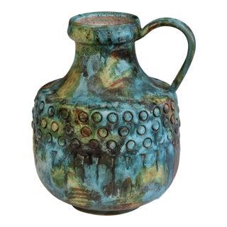 Vintage Bagni Sea Garden Italian Pottery Large Alvino Raymor Jug Pitcher Vase For Sale