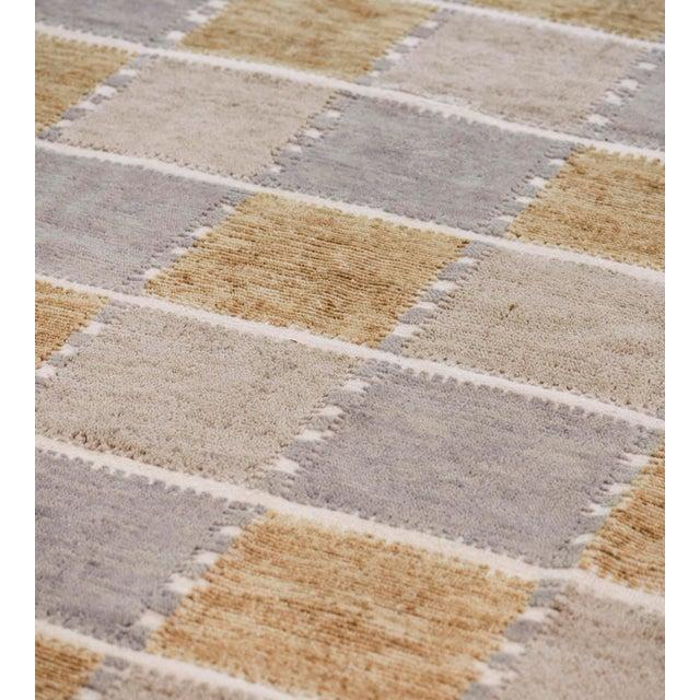 Textile Handwoven Swedish Inspired Flatweave Wool Rug For Sale - Image 7 of 8