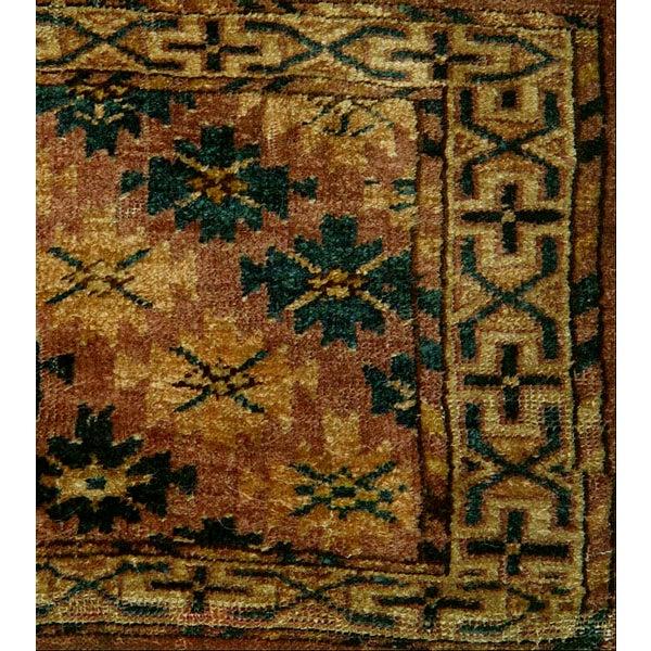 Antique Turkoman Yomud Pile Rug - 1′5″ × 2′8″ - Image 2 of 2