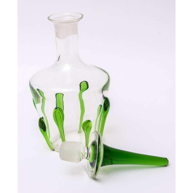 Italian Murano Glass Teardrop Abstract Decanter with Exaggerated Stopper - Image 10 of 10