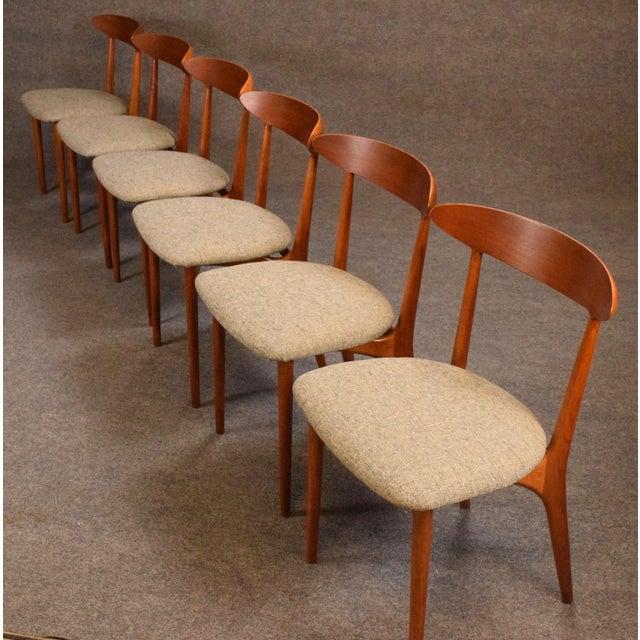 1960s Vintage Kurt Ostervig Danish Modern Teak & Oak Dining Chairs - Set of 6 For Sale - Image 5 of 11