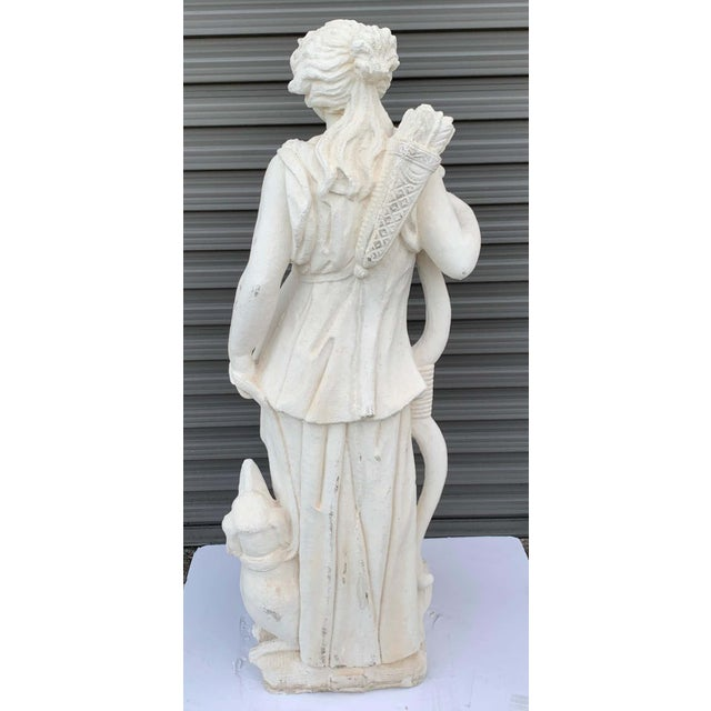 Pair of Vintage Cast Stone Statues of Apollo & Diana For Sale In West Palm - Image 6 of 11
