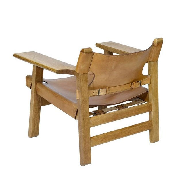 """1950s Børge Mogensen """"Spanish"""" Chair For Sale - Image 5 of 10"""