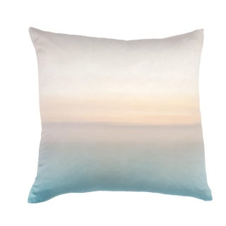 Cappuccino Silk Pillow by Marie Burggos For Sale