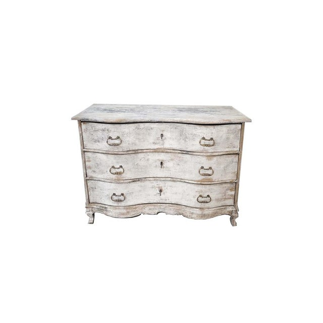 Antique White Antique French Painted Chest For Sale - Image 8 of 8