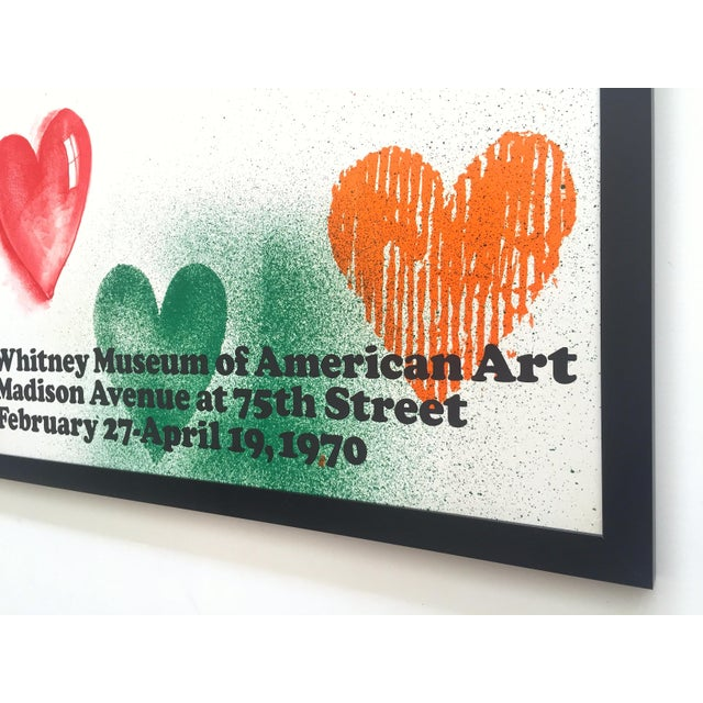 Jim Dine Rare Vintage 1970 Framed Silkscreen Print Whitney Museum Collector's Pop Art Exhibition Poster For Sale - Image 12 of 13
