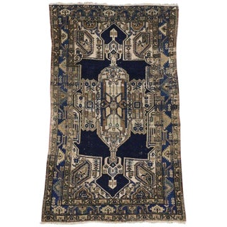 Early 20th Century Antique Persian Malayer Rug - 4′3″ × 7′ For Sale