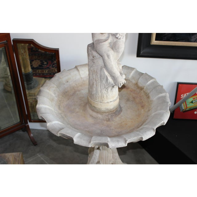 Late 19th Century Carved Marble Birdbath/ Fountain - Image 2 of 4