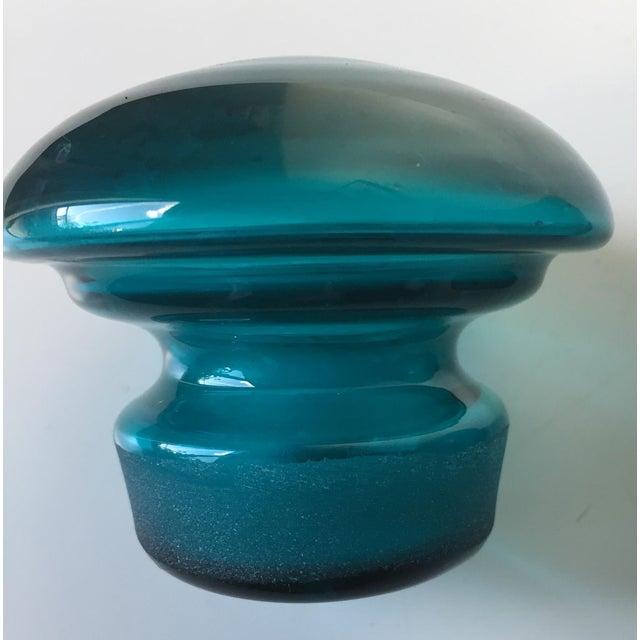 Vintage Blenko Turquoise Glass Decanter/Jar - Image 6 of 7