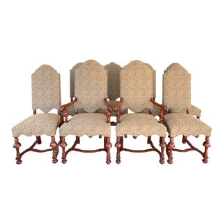 Jacobean Upholstered Chairs - Set of Eight For Sale