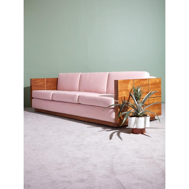1970s Vintage 1970s Wood Cased Sofa For Sale - Image 5 of 8