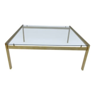1990s Mid-Century Modern Brass Aluminum Coffee Table