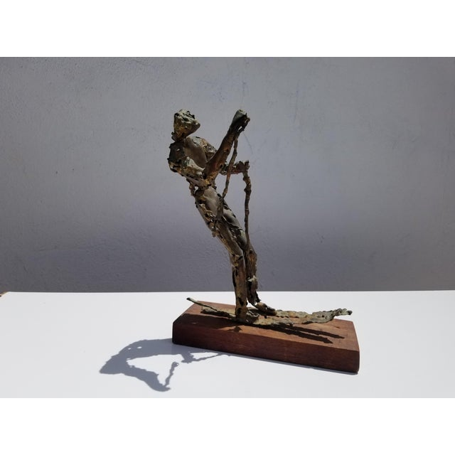 1970s Brutalist Art Torch Copper Table Sculpture For Sale - Image 9 of 10