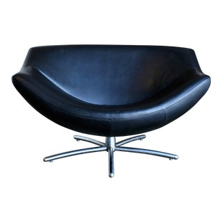 "1980s Gerard Van Den Berg for Label Leather ""Gigi"" Swivel Chair For Sale"